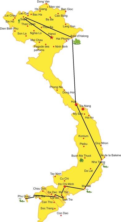 Carte du Vietnam_villes